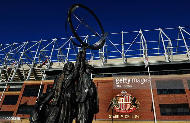 A general view of the outside of the Stadium of Light before the FA Cup Sixth Round Replay between Sunderland and Everton at Stadium of Light on...