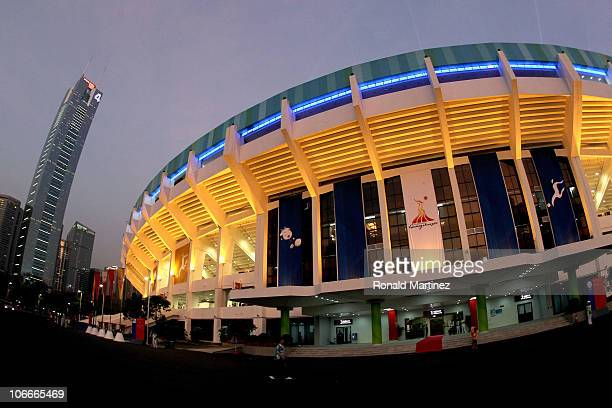 A general view of the outside of Tianhe Stadium before the start of the Men's Football group A pool match ahead of the 16th Asian Games Guangzhou...