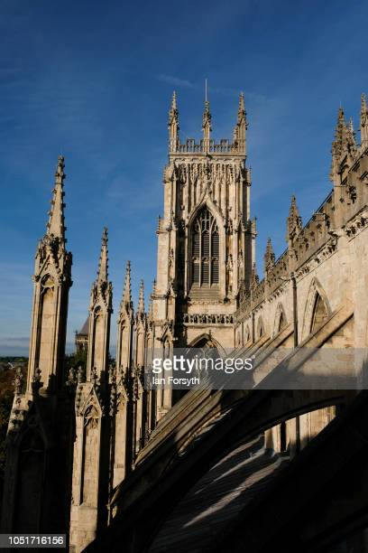 General view of the outside of York Minster as work begins inside to refurbish the Minster's Grand Organ for the first time in 100 years on October...