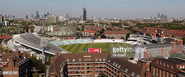 A general view of The Oval cricket ground on the day before the final deciding test of the Ashes series on August 19 2009 in London England The fifth...