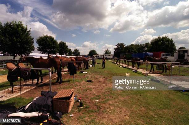 A general view of the paddock at the Cartier International 2000 Polo tournament at Windsor in Berkshire