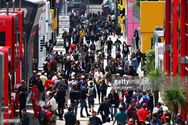 General view of the paddock before the Spanish Formula One Grand Prix at Circuit de Catalunya on May 13, 2018 in Montmelo, Spain.