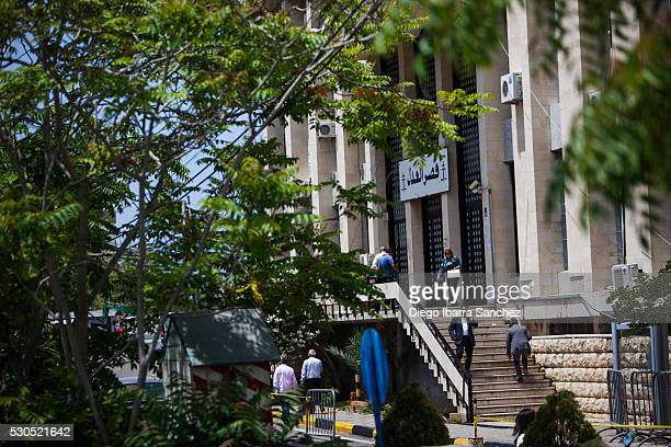 A general view of the Palace of Justice as media wait for the release of Adam Whittington on May 11 2016 in Beirut Lebanon AustralianBritish man Adam...