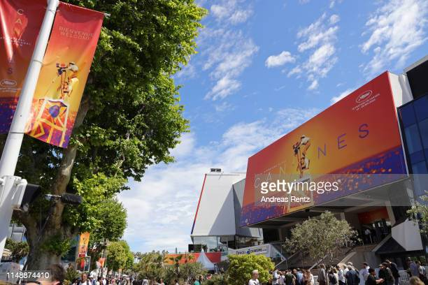 General view of the Palais de Festival ahead of the 72nd annual Cannes Film Festival on May 13, 2019 in Cannes, France.