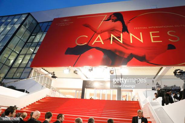 A general view of the Palais des Festival ahead a premiere during the 70th annual Cannes Film Festival at on May 22 2017 in Cannes France