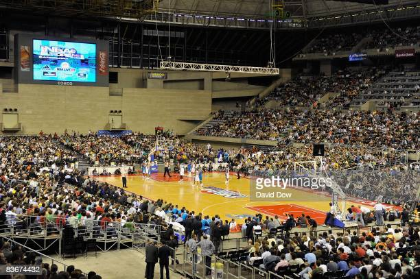 A general view of the Palau Sant Jordi during the game between the Washington Wizards and the New Orleans Hornets at the 2008 NBA Europe Live Tour on...