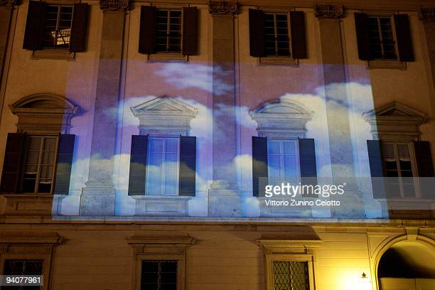 A general view of the Palazzo Reale during the Milan Christmas Led Festival on December 6 2009 in Milan Italy