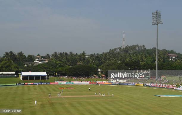 A general view of the Pallekele Stadium during Day Three of the Second Test match between Sri Lanka and England at Pallekele Cricket Stadium on...