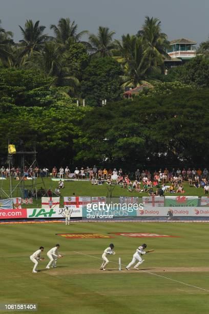 A general view of the Pallekele Stadium during the first over of play during Day Two of the Second Test match between Sri Lanka and England at...