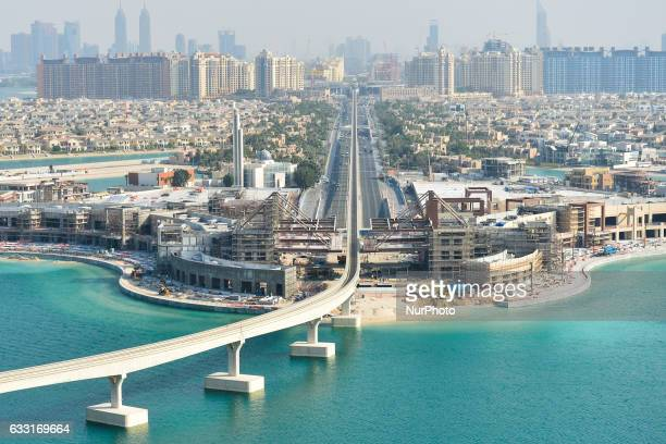 A general view of the Palm Jumeirah area from the Royal Bridge Suite of the Atlantis the Palm hotel On Monday 30 January 2017 in Dubai UAE