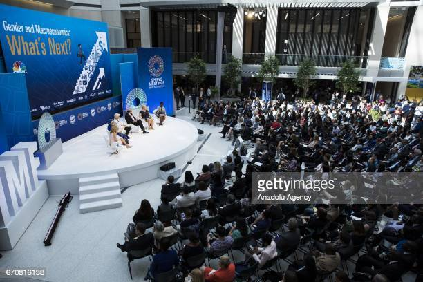General view of the panel discussion on 'Gender and Macroeconomics What's Next' during the the 2017 IMF Spring Meetings in Washington United States...