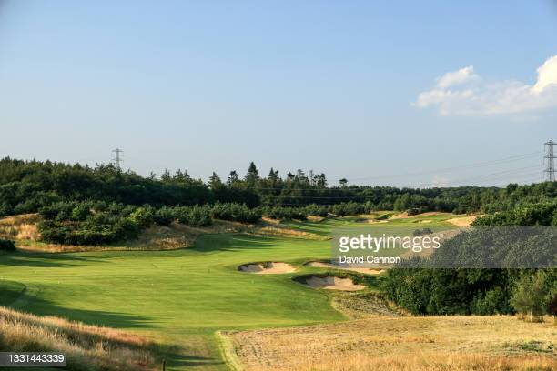 General view of the par 13th hole at The Centurion Club on July 22, 2021 in St Albans, England.
