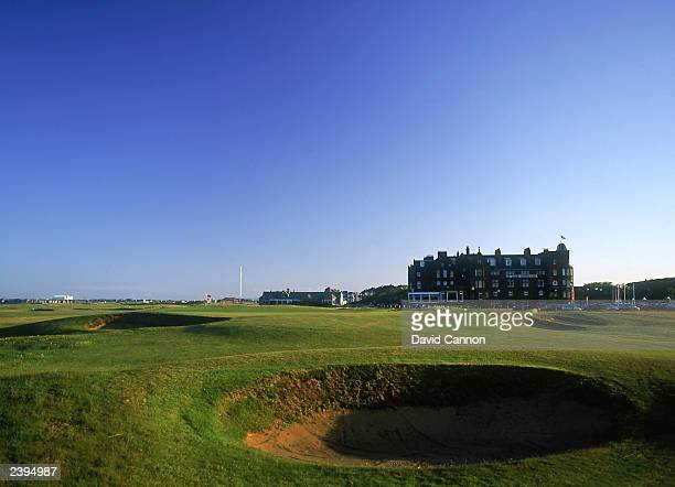 General view of the par 3, 17th hole taken during a photoshoot held on July 26, 2003 at the Royal Troon Golf Club, venue for the 2004 Open...