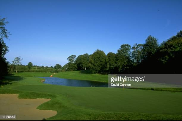 General view of the Par 3 3rd hole at Mount Juliet GC in Ireland Mandatory Credit David Cannon /Allsport