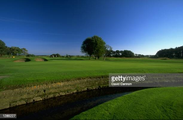 General view of the par 4 10th at Carnoustie in Scotland Mandatory Credit David Cannon /Allsport