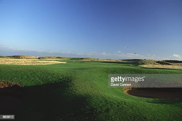 General view of the Par 4 10th hole at the Muirfield Golf and Country Club at Gullane in Edinburgh Scotland Mandatory Credit David Cannon /Allsport