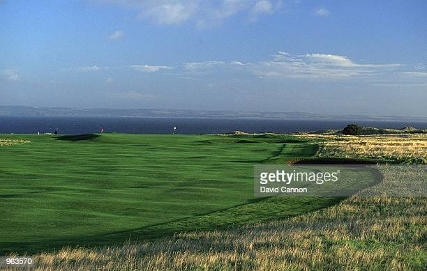 General view of the Par 4 11th hole at the Muirfield Golf and Country Club at Gullane in Edinburgh Scotland Mandatory Credit David Cannon /Allsport