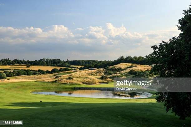 General view of the par 4, 12th hole at The Centurion Club on July 22, 2021 in St Albans, England.