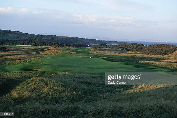 General view of the Par 4 12th hole at the Muirfield Golf and Country Club at Gullane in Edinburgh Scotland Mandatory Credit David Cannon /Allsport
