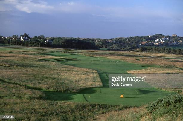 General view of the Par 4 14th hole at the Muirfield Golf and Country Club in Edinburgh Scotland Mandatory Credit David Cannon /Allsport