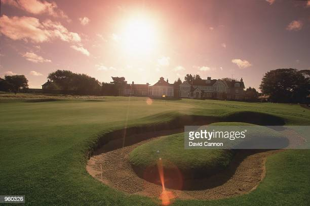 General view of the Par 4 18th hole at the Muirfield Golf and Country Club in Edinburgh Scotland Mandatory Credit David Cannon /Allsport