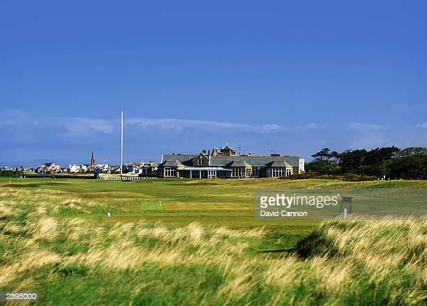 General view of the par 4, 18th hole taken during a photoshoot held on July 26, 2003 at the Royal Troon Golf Club, venue for the 2004 Open...