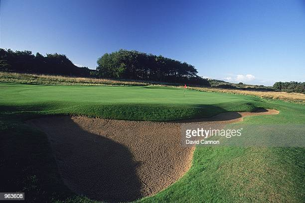 General view of the Par 4, 1st hole at the Muirfield Golf and Country Club at Gullane in Edinburgh, Scotland. \ Mandatory Credit: David Cannon...