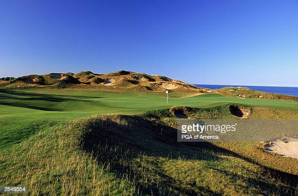 General view of the par 4 6th hole at Whistling Straits Golf Course site of the 2004 PGA Championship on September 2 2003 in Kohler Wisconsin Rough...