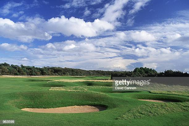 General view of the Par 4 8th hole at the Muirfield Golf and Country Club at Gullane in Edinburgh Scotland Mandatory Credit David Cannon /Allsport