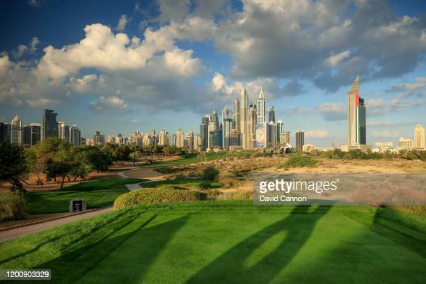 General view of the par 4, eighth hole as a preview for the Omega Dubai Desert Classic on the Majlis Course at Emirates Golf Club on January 21, 2020...