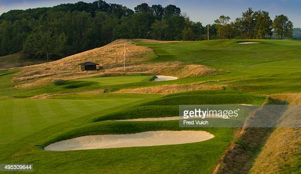 A general view of the par 4 Fifth hole at 2016 US Open site Oakmont Country Club on September 2 2015 in Oakmont Pennsylvania