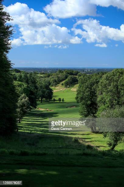 A general view of the par 4 sixth hole during the Clutch Pro Tour Major on The Downs Course at Goodwood Golf Club Golf Club on July 10 2020 in...