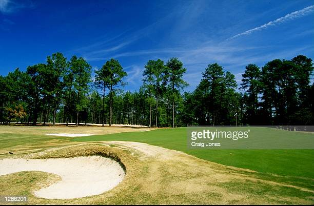 General view of the par 5 10th hole on course no2 at the Pinehurst Resort Country Club in North Carolina USA Mandatory Credit Craig Jones /Allsport