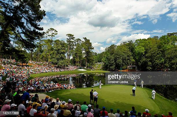 A general view of the par three course is seen during the Par 3 Contest prior to the start of the 2012 Masters Tournament at Augusta National Golf...