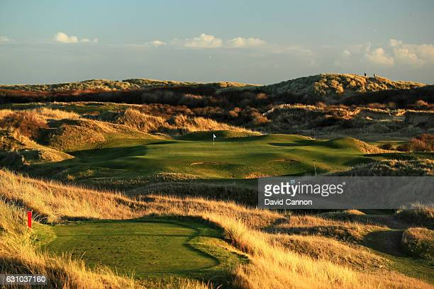 A general view of the par three seventh hole during the Oxford and Cambridge Golfing Society President's Putter at Rye Golf Club on January 5 2017 in...