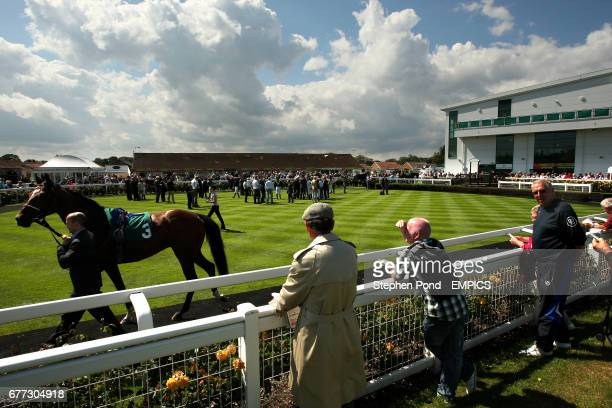 A general view of the parade ring on day two of the July Meeting at Great Yarmouth Racecourse