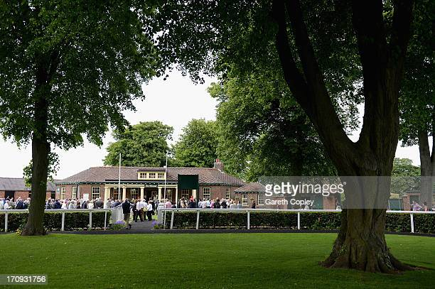 General view of the parade ring Ripon Racecourse on June 20 2013 in Ripon England