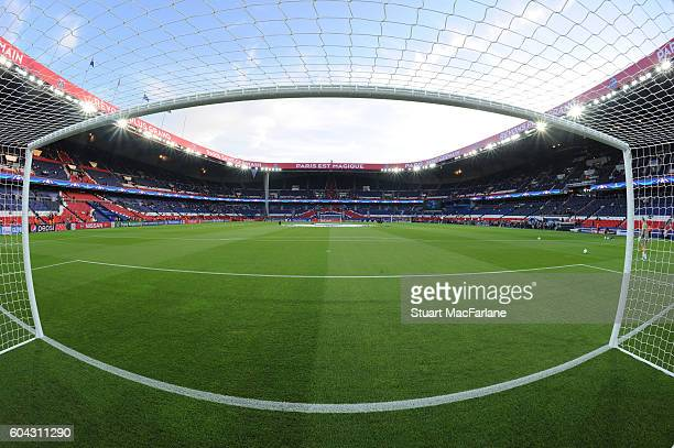 A general view of the Parc des Princes before the UEFA Champions League match between Paris SaintGermain and Arsenal on September 13 2016 in Paris