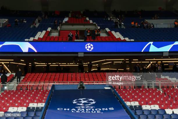 General view of the Parc des Princes prior to the UEFA Champions League Round of 16 Second Leg match between Paris SaintGermain and Manchester United...