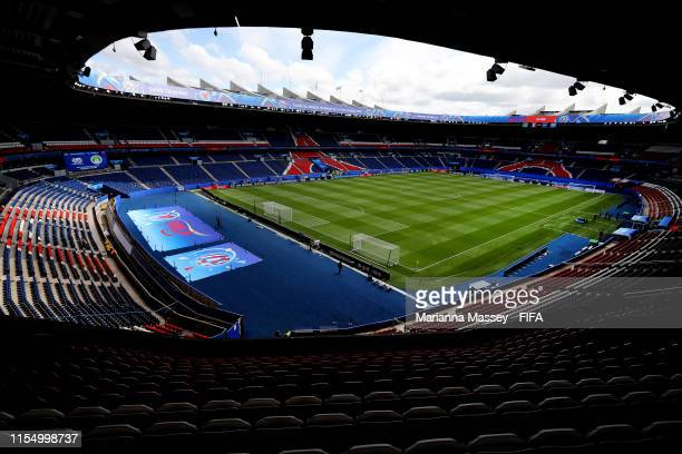 General view of the Parc des Princes stadium prior to the 2019 FIFA Women's World Cup France group D match between Argentina and Japan at Parc des...
