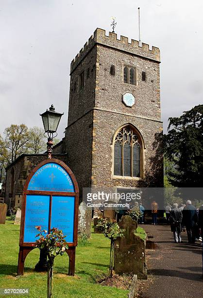 A general view of The Parish Church of Saint Mary the Virgin is seen where the funeral of actor Sir John Mills took place on April 27 2005 in Denham...