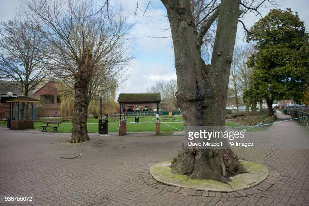 A general view of the park near the Maltings in Salisbury where Russian double agent Sergei Skripal and his daughter Yulia were found on a bench...