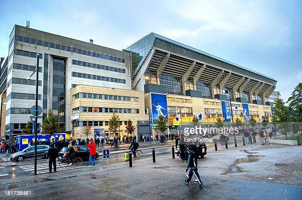 General view of the Parken Stadium, home of FC Copenhagen taken during the UEFA Champions League group stage match between FC Copenhagen and Juventus...