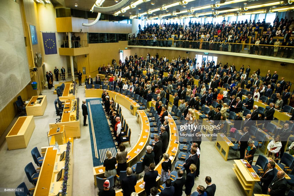 General view of the parliament as Carl XVI Gustaf of Sweden leads the opening of the Parliamentary session on September 12, 2017 in Stockholm, Sweden.