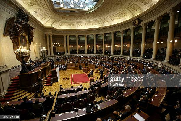 General view of the Parliament during a ceremony to award Newly sworn-in Secretary General of the United Nations Antonio Guterres with a human rights...