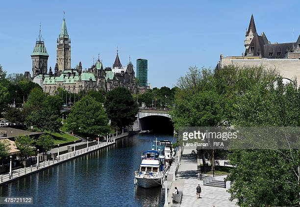 General view of the parliament hill and the Rideau Canal ahead of the FIFA Women's World Cup 2015 on June 3, 2015 in Ottawa, Canada.