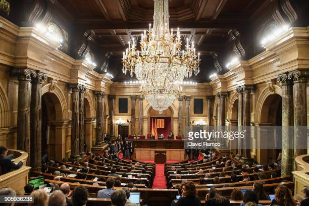 A general view of the Parliament of Catalonia on January 17 2018 in Barcelona Spain The Parliament of Catalonia is called today to hold its maiden...