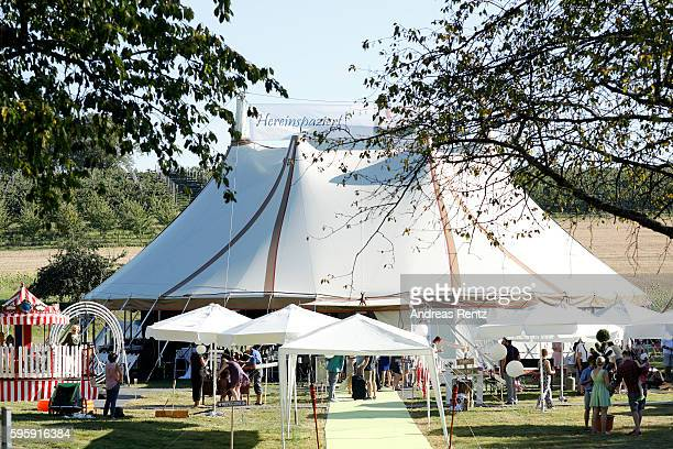 A general view of the party location for the wedding of Samuel Koch and Sarah Elena Timpe on August 26 2016 in Wintersweiler near EfringenKirchen...