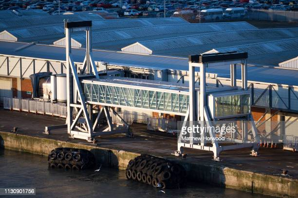 A general view of the passenger cruise terminal at the Port of Southampton on February 10 2019 in Southampton England The Port of Southampton is a...