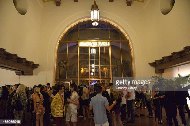A general view of the patio at the Jeremy Scott and adidas Originals VMA's After Party with Spirits Sponsored By Svedka Vodka at Union Station on...
